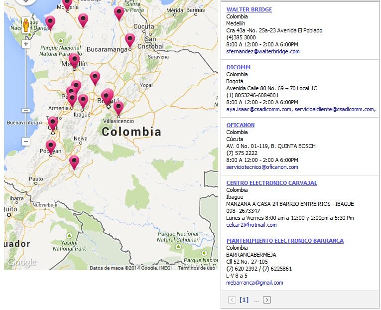 Centros de Servicio Panasonic Colombia