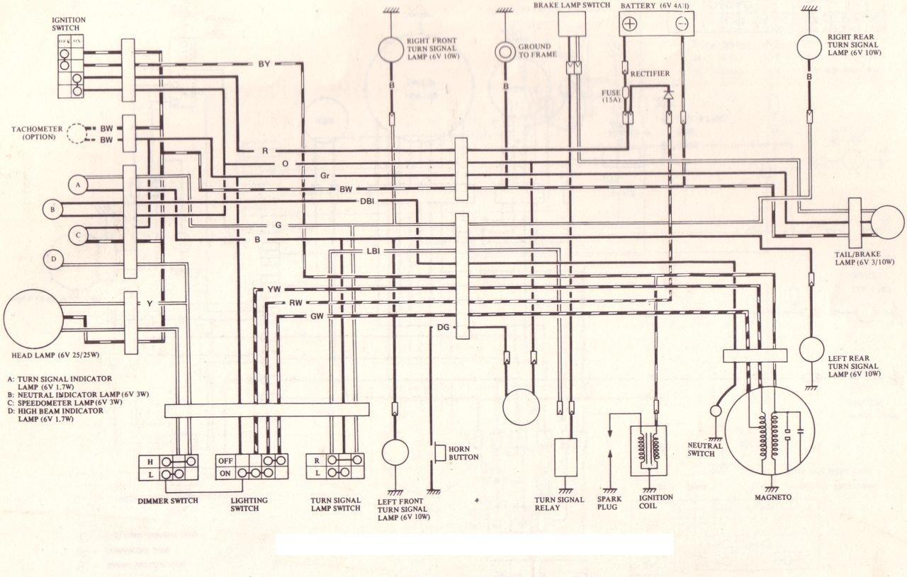 Necesito Diagrama Electrico De Moto Suzuki Tc 185 A U00f1o 1977