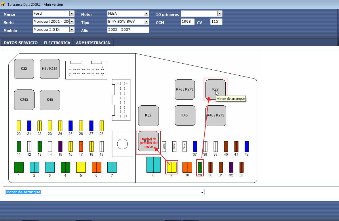 Ka Fuse Box Location Top Engine Diagram Caja De Fusibles En Ford Mondeo 2002 2011