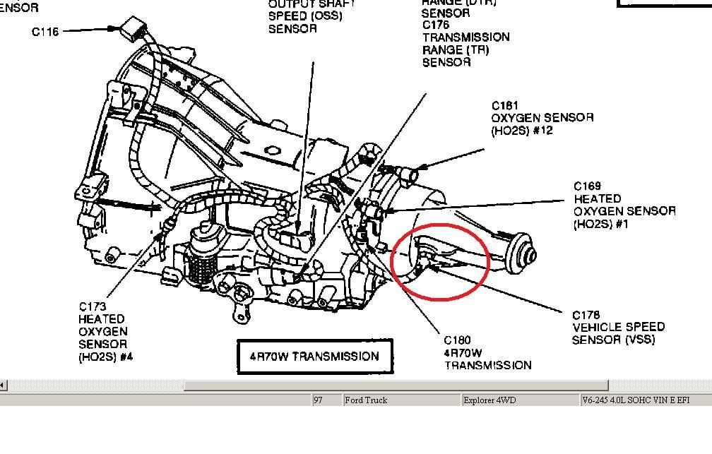 Donde Se Ubica El Sensor De Velocidad En Una Ford Explorer